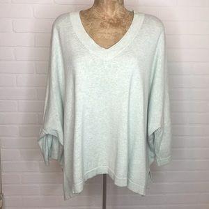 Pure Jill V Neck Sweater Sz M/L Oversize Dolmen